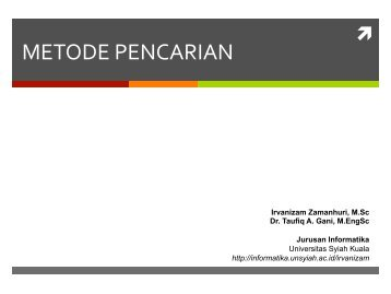 METODE PENCARIAN - cs.unsyiah.ac.id. - Universitas Syiah Kuala