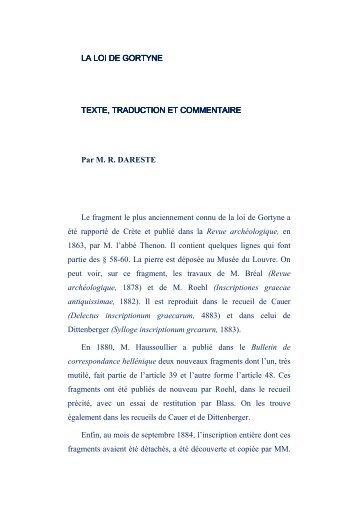 3) Commentaires et traduction en français