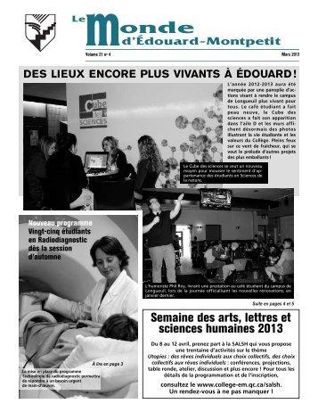 volume 21, numéro 4 - Collège Édouard-Montpetit