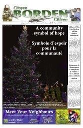A community symbol of hope Symbole d'espoir pour la communauté