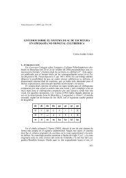Estudios sobre el sistema dual de escritura en epigrafía no monetal ...