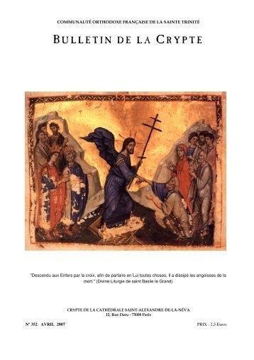 BULLETIN DE LA CRYPTE - Paroisse de la Sainte Trinité