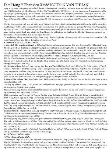 Đức Hồng Y Phanxicô Xaviê NGUYỄN VĂN THUẬN