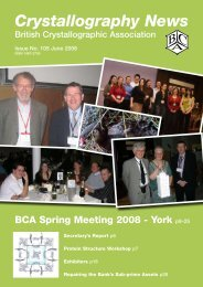 CN June 2008.pdf - British Crystallographic Association