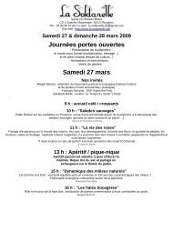 Journées portes ouvertes Samedi 27 mars - Rougiers Info