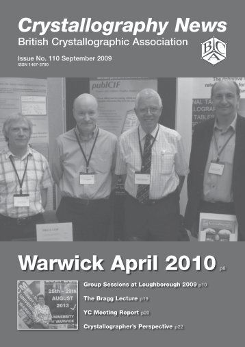 Warwick April 2010p6 - British Crystallographic Association