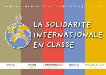 La soLidarité internationaLe en cLasse - Oxfam-Magasins du monde