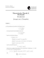 Theoretische Physik I: Mechanik