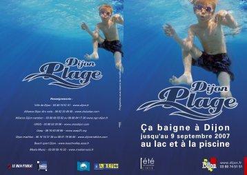 Ça baigne à Dijon au lac et à la piscine - le Grand Dijon