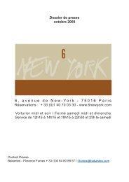 Presse - RESTAURANT LE 6 NEW YORK