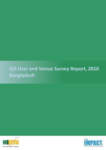 Bangladesh User and Venue Survey Final Report - Publications ...