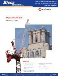 Potain MR 615 Product Guide - Manitowoc Cranes