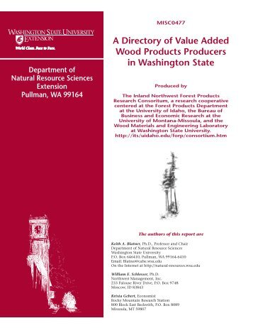 A Directory Of Value Added Wood Products Producers - Computing ...