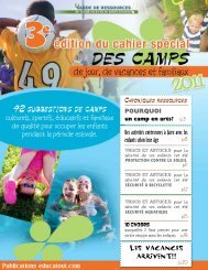 42 suggestions de camps - Educatout.com