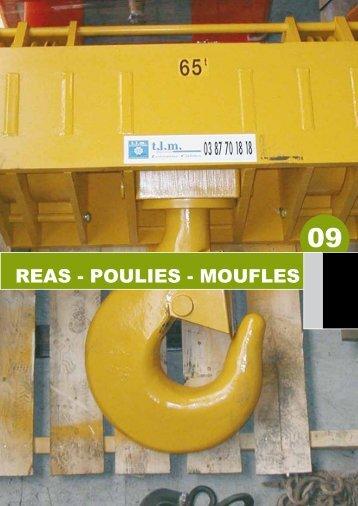 REAS - POULIES - MOUFLES - TLM câbles