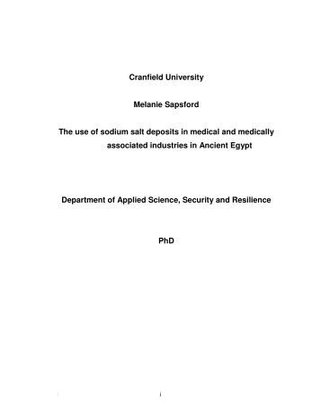Cranfield university msc thesis