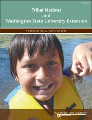 Tribal Nations and Washington State University Extension