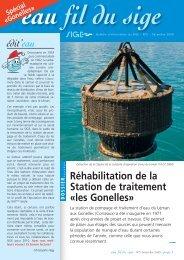 Réhabilitation de la Station de traitement «les Gonelles» - SIGE
