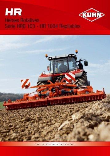 Herses Rotatives Série HRB 103 - HR 1004 Repliables - Kuhn.com