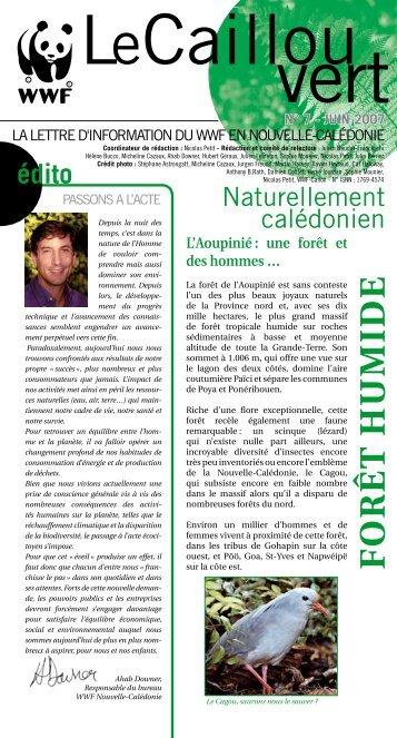 Le caillou vert n°7 - WWF France