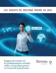 Les avocats de la pratique privée en 2021 - Barreau du Québec