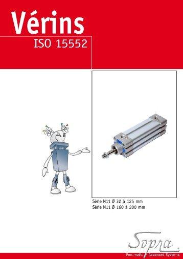 Socafluid - Vérins Pneumatique ISO 15552 Ø32 à 125 mm Sopra