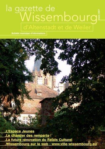 la gazette de - Site officiel de la ville de Wissembourg