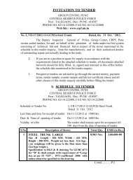 INVITATION TO TENDER - Central Reserve Police Force