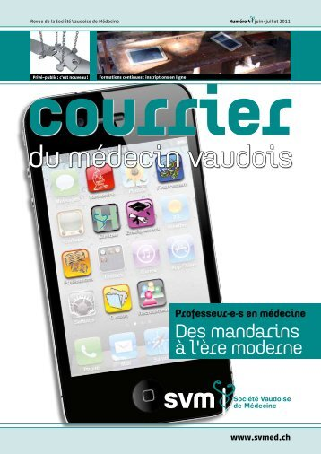 Juin-juillet 2011 - Société Vaudoise de Médecine