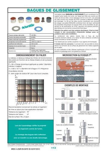 BAGUES DE GLISSEMENT - Sepem industries