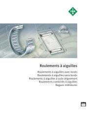 Roulements à aiguilles et bagues - Rollin.ch