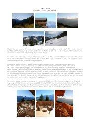 chalet feiler verbier 4 valleys, switzerland - Chalet Feiler index