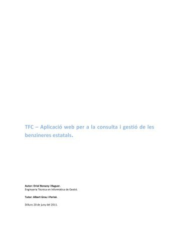 TFC – Aplicació web per a la consulta i gestió dels combustibles i ...
