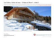 """Les Collons, Verbier ski area – """"Chalets du Rhone"""" – chalet 3"""