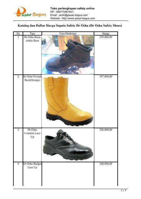 ac8af093da4 Sepatu Safety Dr Osha (Dr Osha Safety Shoes) - Toko Sepatu Safety