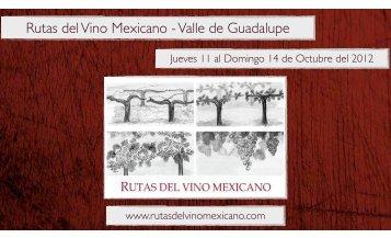 Rutas del Vino Mexicano Octubre 2012