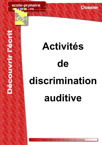 activites discrimination auditive