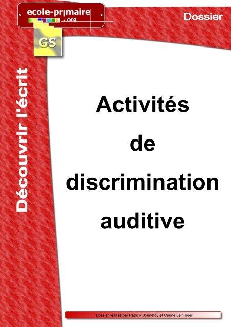 activites discrimination auditive
