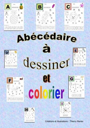 Cahier d 39 activit points relier dessins colorier - Abecedaire a colorier ...