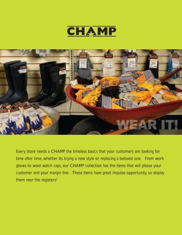 Every store needs a CHAMP, the timeless basics that your ... - Broner