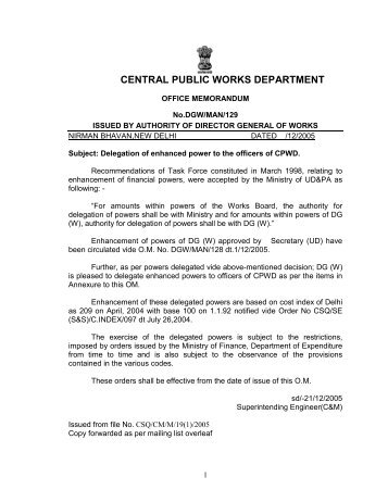 maintenance manual cpwd central public works department rh yumpu com CPWD Pune CPWD India