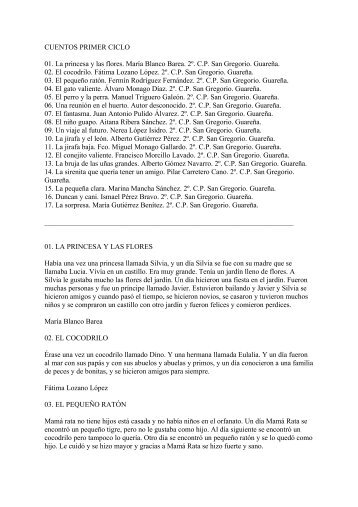 CUENTOS TERCER CICLO - CPR de Mérida