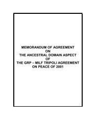 memorandum of agreement on the ancestral domain aspect of the ...
