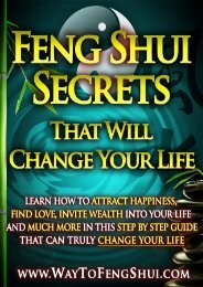 Feng Shui Secrets That Will Change Your Life - Way To Feng Shui