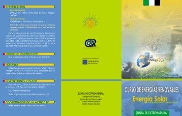 energías renovables. energía solar - CPR de Mérida