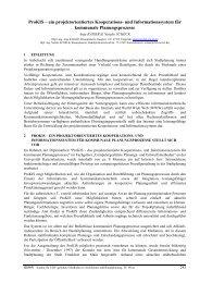 ProKIS – ein projektorientiertes Kooperations - cpe - Universität ...
