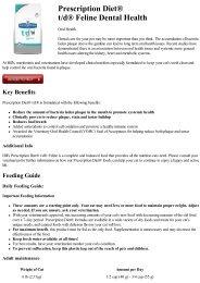 Prescription Diet® t/d® Feline Dental Health - 2ndChance.info
