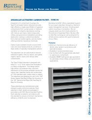Granular Activated Carbon Filter – Type FV - Barnebey Sutcliffe