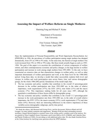 the impact of the welfare state Department of politics and international relations, university of oxford the impact of institutions: the implications of welfare state reforms for human capital and skills.