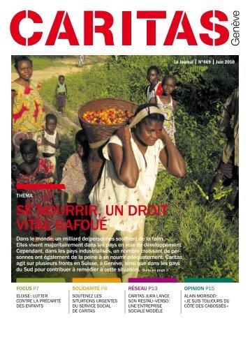 n°469: Se nourrir, un droit vital bafoué - Caritas Genève